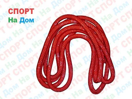 Скакалка гимнастическая красная (однотонная, 3 метра)