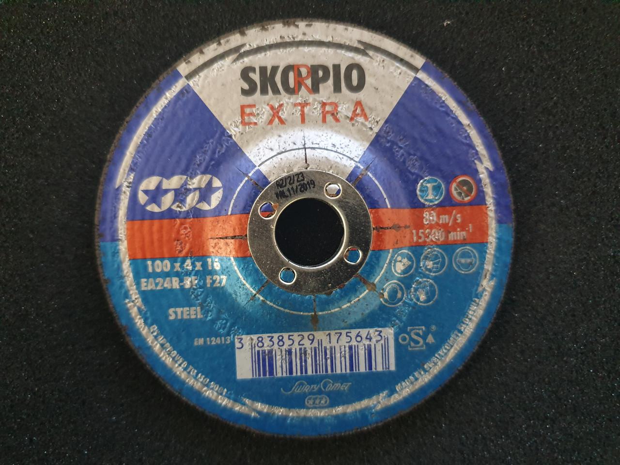 Круг шлифовальный Inox&Metal 100 x 4 x 16 SKORPIO EA24R-BF/F27 (Weiler Abrasives, Slovenija)
