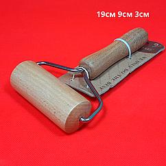 Скалка-ролик для теста, деревянная