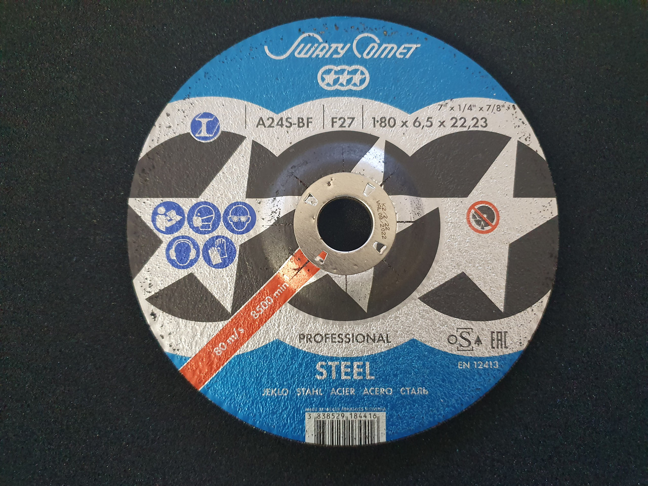Круг шлифовальный 125 х 6,5 х 22,23 мм. SwatyComet PROFESSIONAL (Metal)