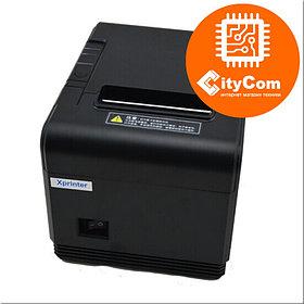 Принтер чеков 80mm XPrinter XP-Q200, LAN POS термопринтер чековый для магазинов, бутиков, кафе и др. Арт.5514