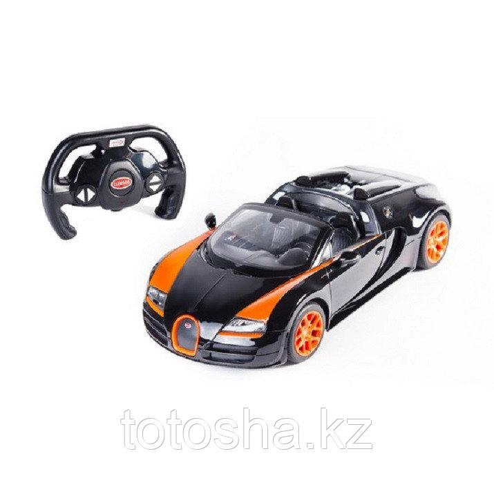 Радиоуправляемая машина Bugatti Veyron 16.4 Grand Sport Vitesse , Чёрно-Оранжевый 1:14, RASTAR 70400OB