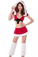 Санта костюм с юбочкой и топом, фото 1