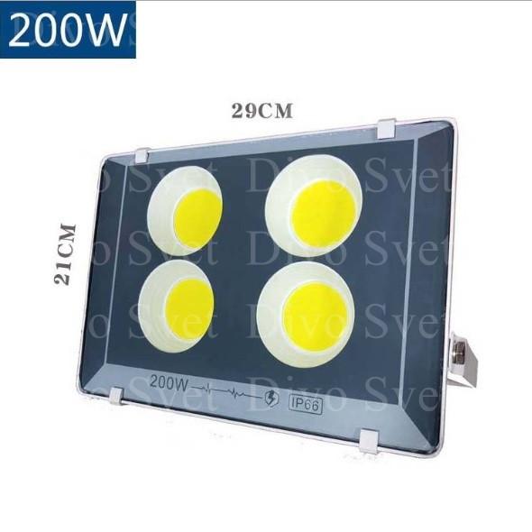 """Прожектор светодиодный FLOOD LIGHT 200 W """"Стандарт"""" серия, бюджетная. LED Прожекторы освещения 200 Ватт."""