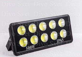 """Светодиодный прожектор """"Black"""" 500 W IP65 (Улучшенная серия). LED светильник 500 W, уличный"""