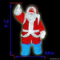 "Светодиодная фигура "" Санта Клаус 160*100 см "", фото 1"
