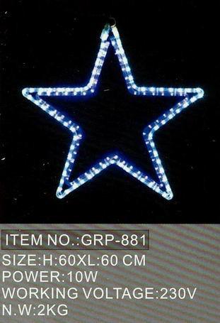 Светодиодный 5 звезд 60Х60СМ в алматы