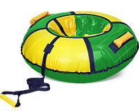 Тюбинг «Классик» зеленый с желтым, диаметр 1100  мм в Алматы