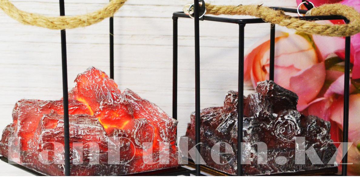 """Фонарь-ночник с эффектом живого огня """"камин"""" компактный дизайн USB/батарейки подключение 230x125 - фото 5"""