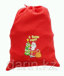 Мешок новогодний для подарков 30х40см