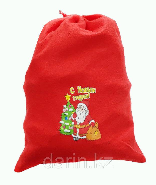 Мешок новогодний для подарков 30х40см - фото 1