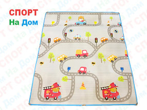 Теплый детский коврик напольный обучающий (Габариты: 1,8 х 2 метра)
