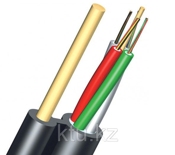 Кабель волоконно-оптический ОКНГ-Т16-С16-1.0 (ВП) – кабель с двумя прутками в оболочке 16 отдельных волокон