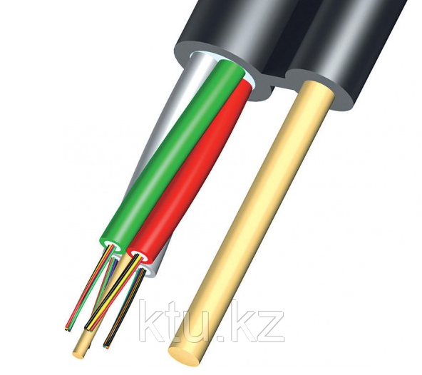 Кабель волоконно-оптический ОКНГ-Т6-С36-1.0 (ВП) 6 модулей по 6 волокон с двумя прутками