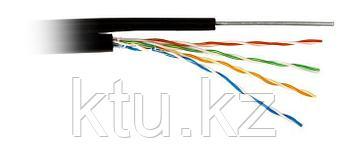 Кабель  FTP CAT5E 4P 24AWG PE, для внешней прокладки с тросом