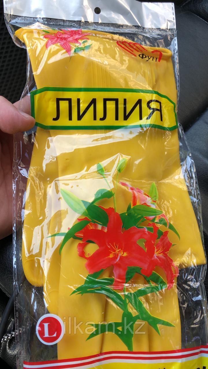 Перчатки резиновые Лилия латекс