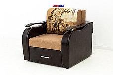 Кресло-кровать раскладной Аквамарин 7, ОК06/КупонАфрикаГепарды/MOBI11, АСМ (Россия), фото 3