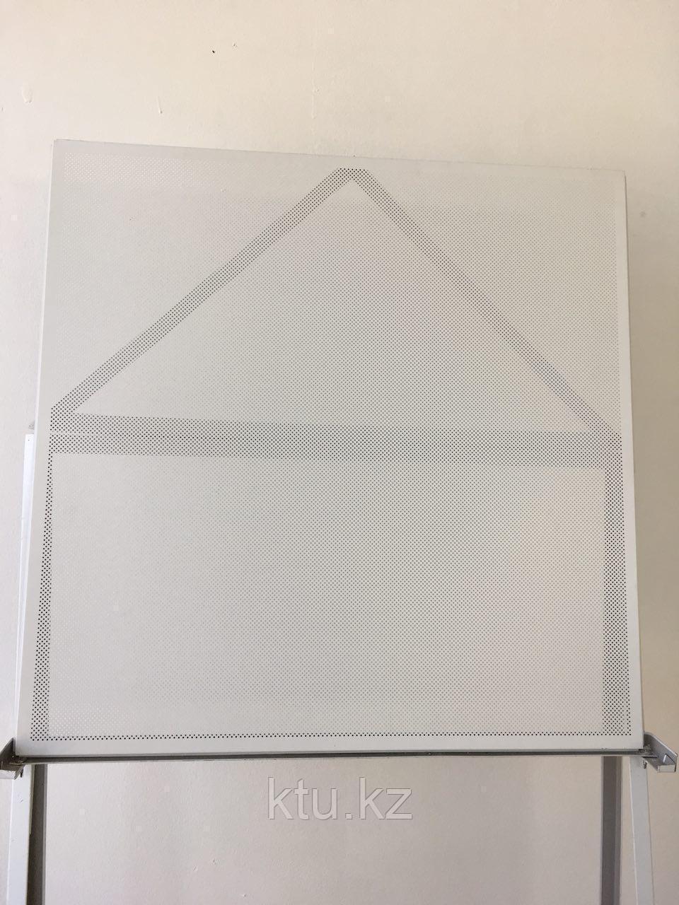 Кассетный потолок Албес белый матовый перфорированный