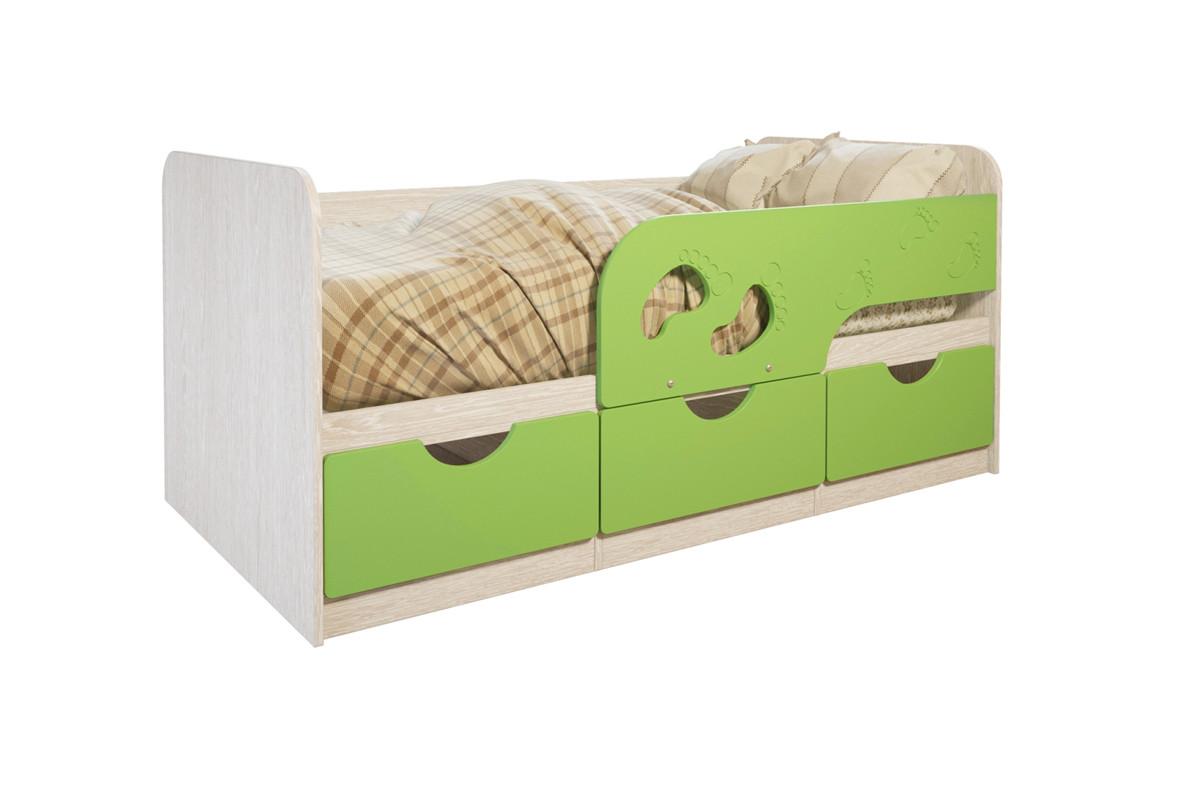 Кровать односпальная Лего, Лайм, БТС (Россия)