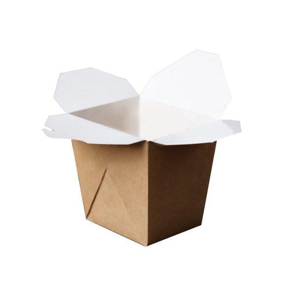 Коробка д/лапши, 700мл, склеенная  внеш. 100х100х105мм,  коричн., картон, 360 шт