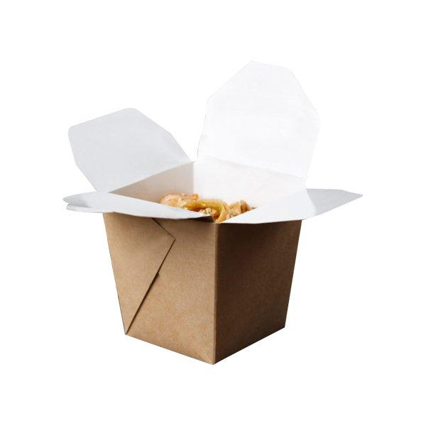 Коробка д/лапши, 560мл, скленная внеш. 80х89х102мм,  коричн., картон, 420 шт