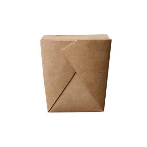 Коробка д/лапши, 460мл, склеенная  102х89х120мм, коричн., картон, 420 шт, фото 2