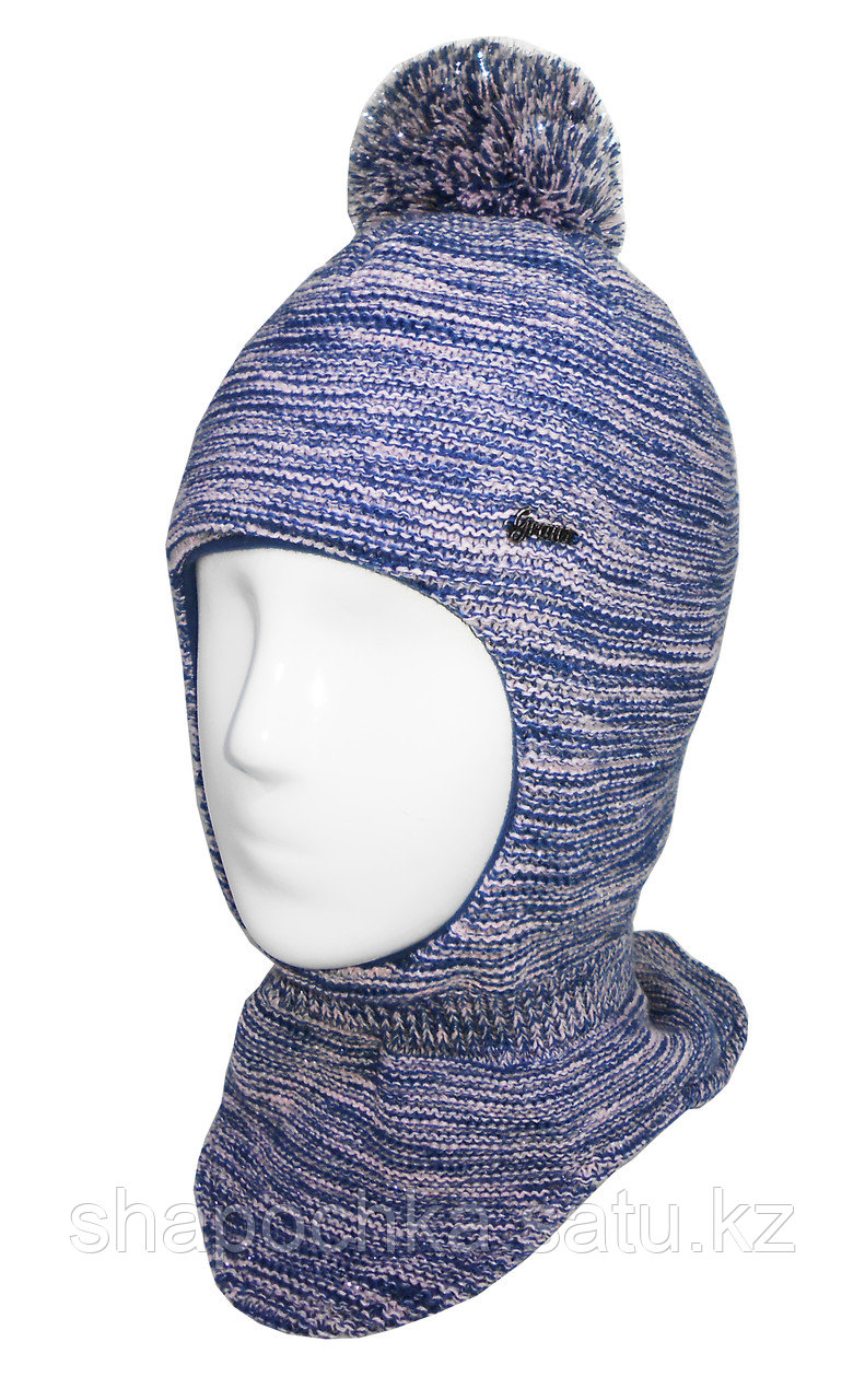 Шапка шлем 50 grans дев люрекс бубон