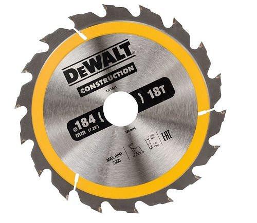 Пильный диск DeWalt CONSTRUCT 184x30 DT1941