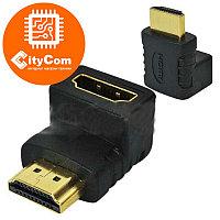Адаптер (переходник) HDMI to HDMI, AM-AF, поворотный: угол 90 градусов. Конвертер. Арт.2227