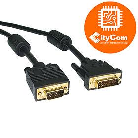 Адаптер (переходник) DVI to VGA, C-NET, кабель 1,8 m. Конвертер. сигнальный. Арт.2457