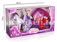 """Игровой набор для девочек """"Кукла Барби с пегасом и каретой"""" (Высота куклы 28 см)"""