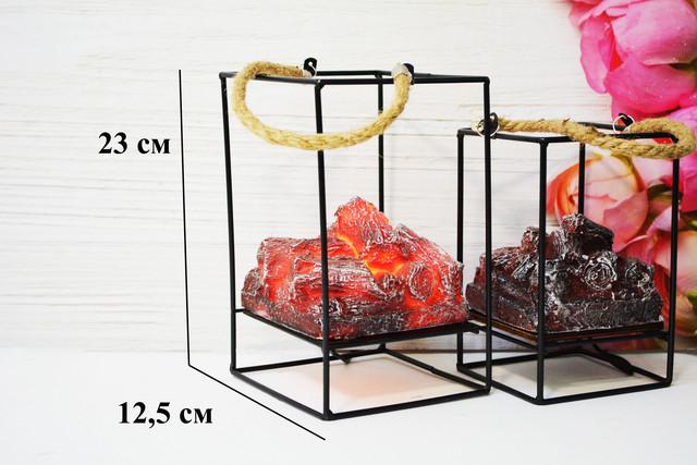"""Фонарь-ночник с эффектом живого огня """"камин"""" стильный  дизайн USB подключение"""