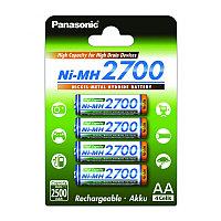 Panasonic Аккумулятор типа AA 2700 4BP(BK-3HGAE/4BE), 2700 мАч, 4 шт, блистер АА