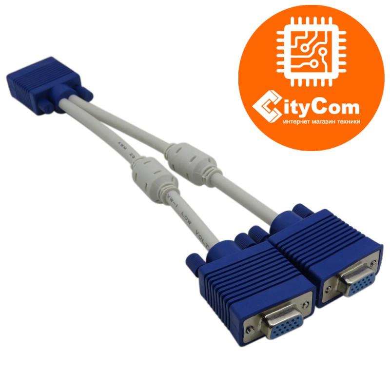 VGA-разветвитель, C-NET, 0.3m сигнальный.