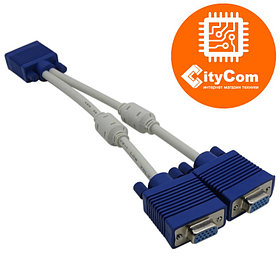 VGA-разветвитель, C-NET, 0.3m сигнальный. Арт.2442