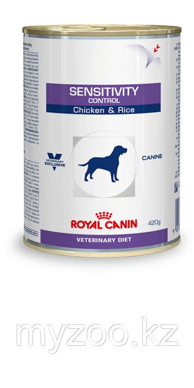 Корм для собак с чувствительным пищеварением Royal Canin SENSITIVITY CHICKEN DOG CAN  420 g. (курица+рис)