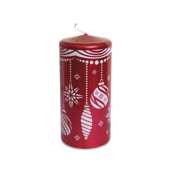 """Свеча пеньковая """"Новогодние игрушки"""", d 60мм, h 150мм, цвет красный"""
