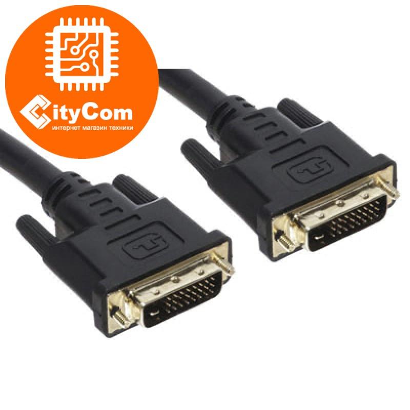 Интерфейсный кабель DVI male to male, C-NET, 5m, DVI-D Dual LInk сигнальный. Арт.2448