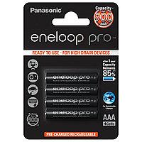 Panasonic Аккумулятор Eneloop Pro AAA 900 4BP (BK-4HCDE/4BE) 900 mAh, 4 шт, блистер, AAA