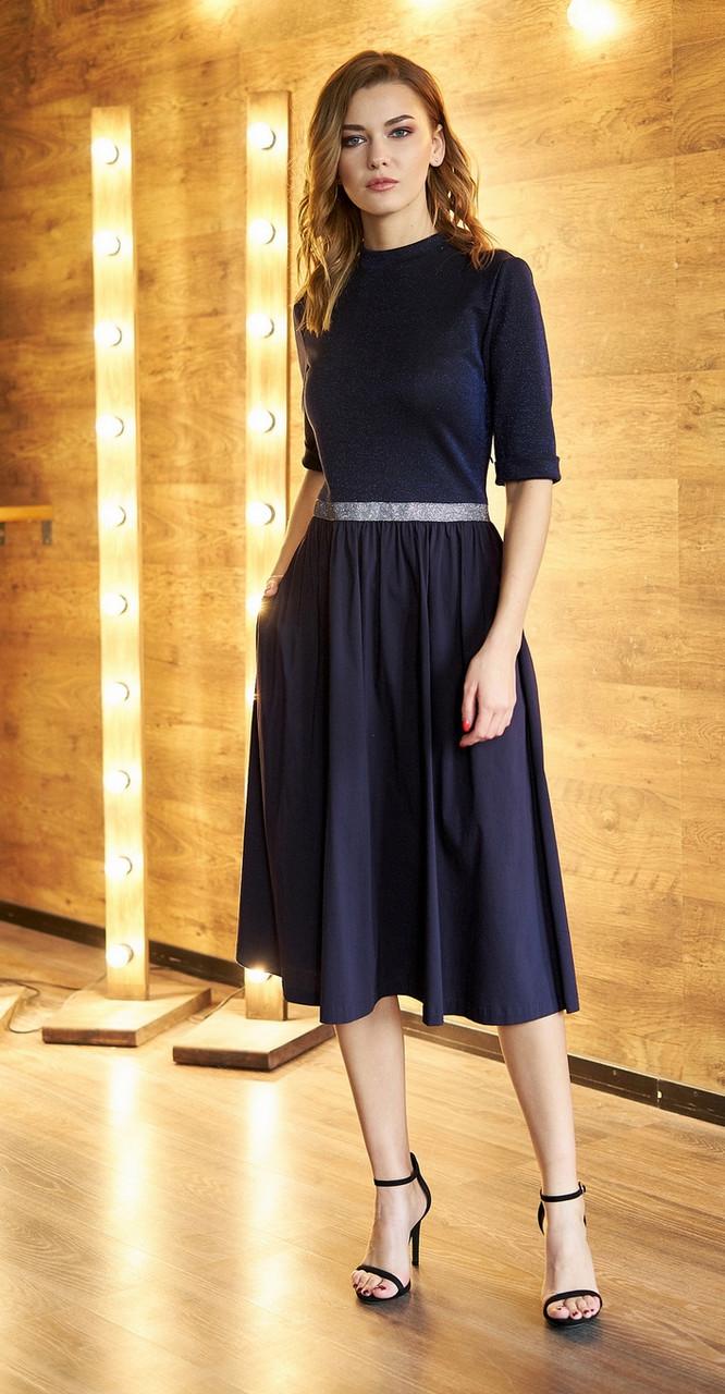 Платье Fantazia Mod-3564, тёмно-синий, 42