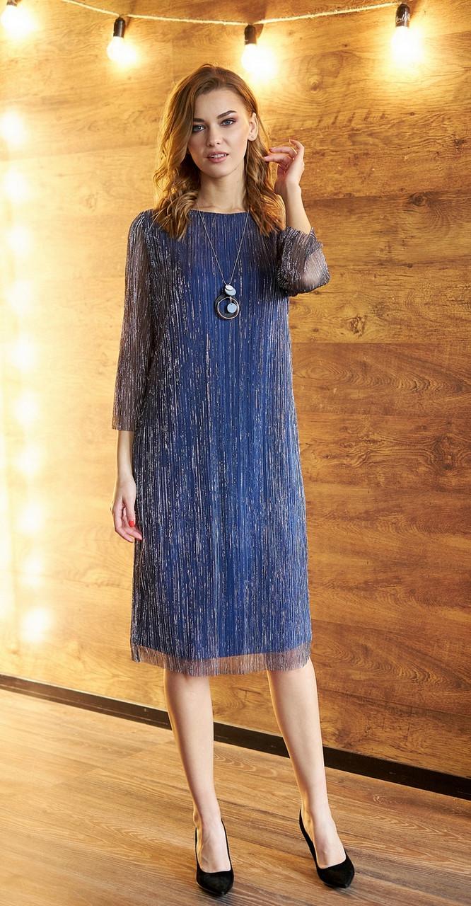 Платье Fantazia Mod-3621, синий с серебром, 50