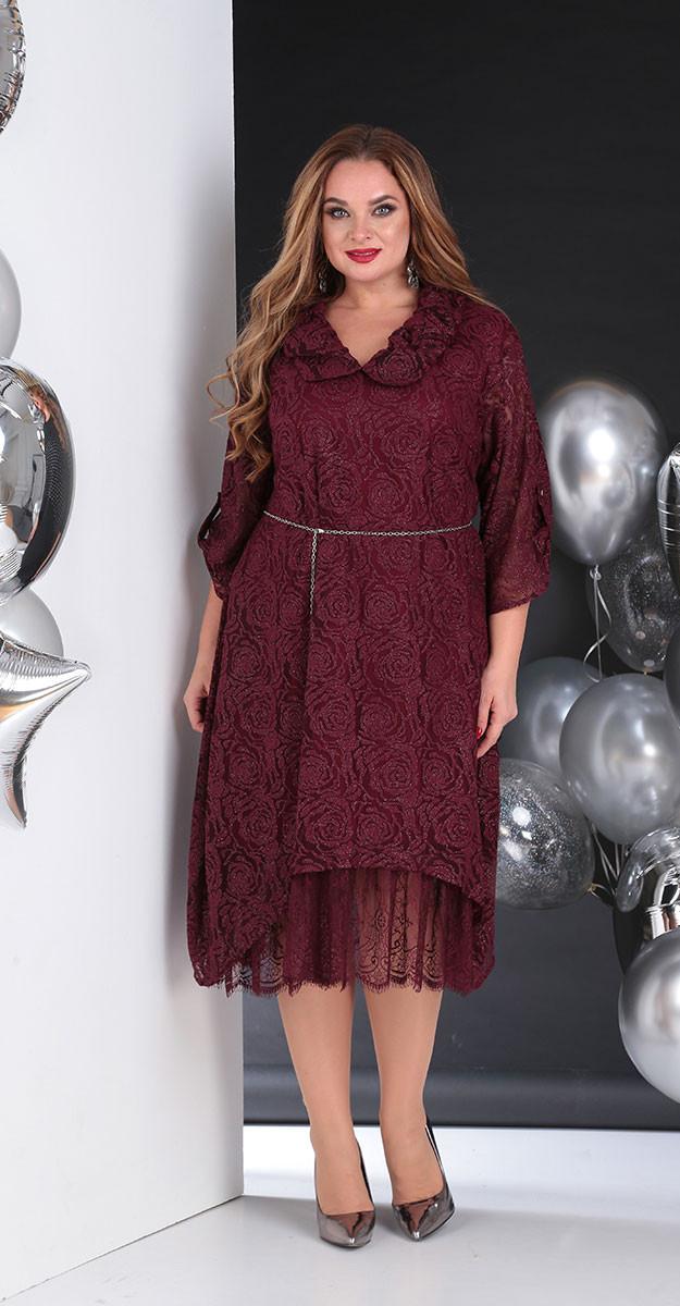 Платье Sandyna-13650/2, бордо, 58