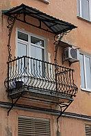 Козырек на балкон с перилами, фото 1