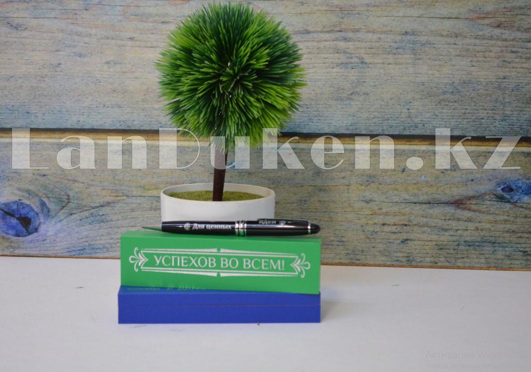 """Ручка в деревянном футляре с памятной гравировкой """"Успехов во всем"""" """"Для ценных идей"""" - фото 7"""