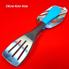 Щипцы универсальные металлические с силиконовой ручкой