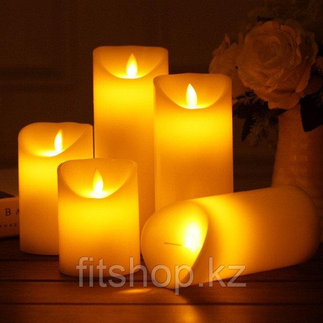 Светодиодные свечи размер  9*12,5 см( Эффект живого огня )