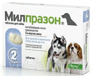 Милпразон таблетки для собак до 5 кг