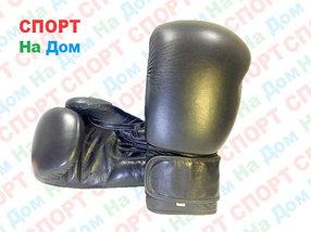 Боксерские перчатки BLACK кожа (черный)