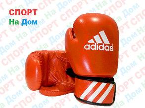 Боксерские перчатки ADIDAS кожа (красный), фото 2