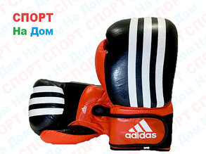 Боксерские перчатки ADIDAS кожа (черный), фото 2